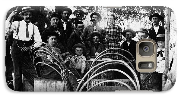 Galaxy Case featuring the photograph Washington Pioneers, C1900 by Granger