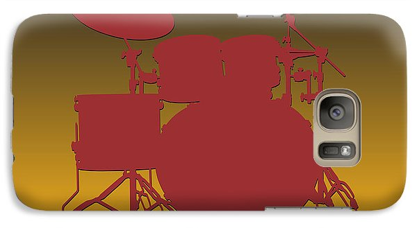 Washington Redskins Drum Set Galaxy S7 Case by Joe Hamilton