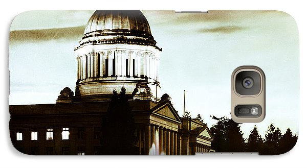 Galaxy Case featuring the photograph Washington State Capitol Campus And Tivoli Fountain by Merle Junk