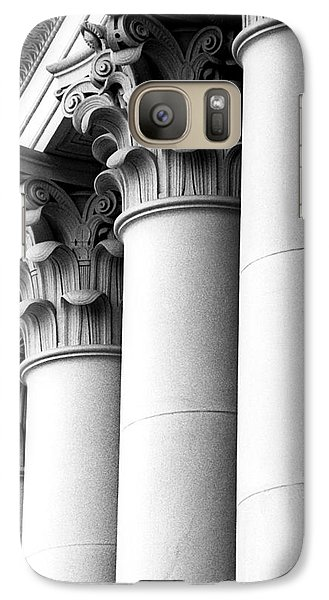 Galaxy Case featuring the photograph Washington State Capitol Columns by Merle Junk