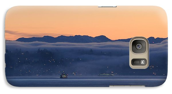 Galaxy Case featuring the photograph Washington State Ferries At Dawn by E Faithe Lester