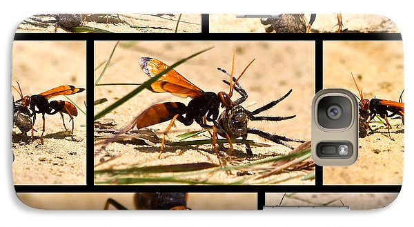 Galaxy Case featuring the photograph Wasp And His Kill by Miroslava Jurcik