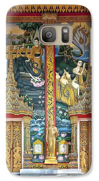 Galaxy Case featuring the photograph Wat Choeng Thale Ordination Hall Facade Dthp143 by Gerry Gantt