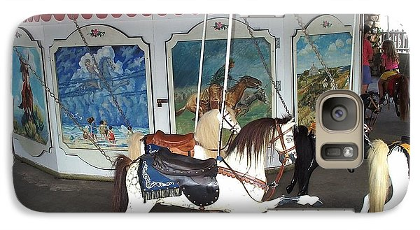 Galaxy Case featuring the photograph Watch Hill Merry Go Round by Barbara McDevitt