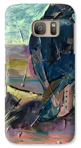 Galaxy Case featuring the painting Watchful American Icon by Betty Pieper