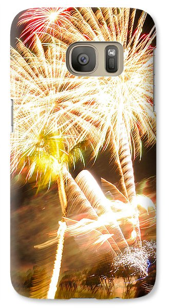 Galaxy Case featuring the photograph Watching Fireworks by Haleh Mahbod