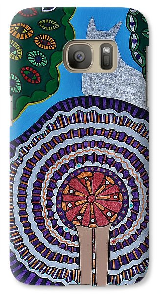Galaxy Case featuring the painting Watching The Show by Barbara St Jean