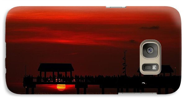 Galaxy Case featuring the photograph Watching The Sunset by Richard Zentner