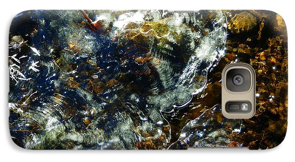 Galaxy Case featuring the photograph Water And Ice by Carolyn Cable
