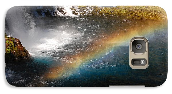 Galaxy Case featuring the photograph Water And Rainbow by Debra Thompson
