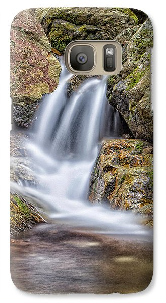 Galaxy Case featuring the photograph Water And Stone by Alan Raasch