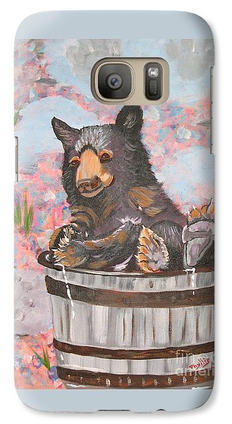 Galaxy Case featuring the painting Water Bear by Phyllis Kaltenbach