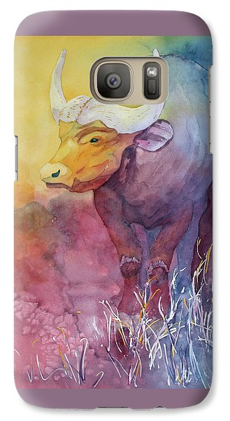 Galaxy Case featuring the painting Water Buffalo by Nancy Jolley