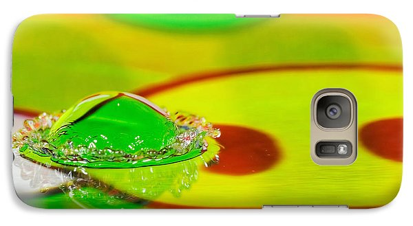 Galaxy Case featuring the photograph Water Crown by Peter Lakomy