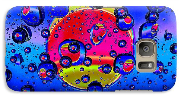 Galaxy Case featuring the photograph Water Drops Fantasy by Vladimir Kholostykh