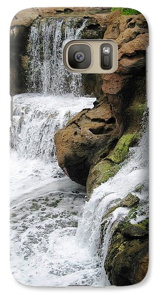 Galaxy Case featuring the photograph Water Fall by Judy Palkimas