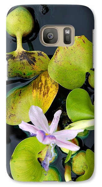 Galaxy Case featuring the photograph Water Flower by Allen Carroll