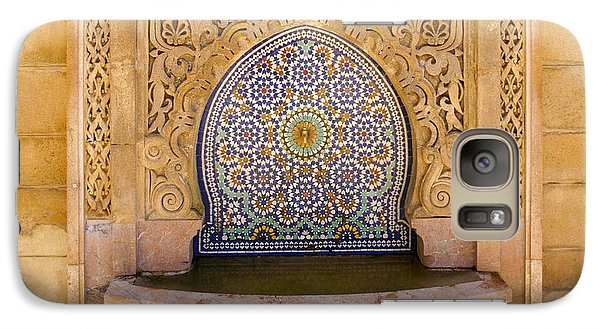 Galaxy Case featuring the photograph Water Fountain Mausoleum Of Mohammed V Opposite Hassan Tower Rabat Morocco  by Ralph A  Ledergerber-Photography