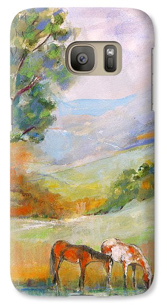 Galaxy Case featuring the painting Water Hole by Mary Armstrong