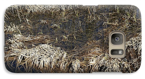 Galaxy Case featuring the photograph Dried Grass In The Water by Teo SITCHET-KANDA