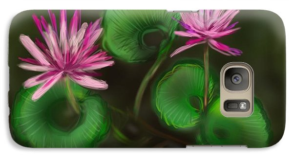 Galaxy Case featuring the digital art Water Lilies by Christine Fournier