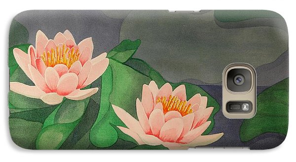 Galaxy Case featuring the painting Water Lilies by Paul Amaranto