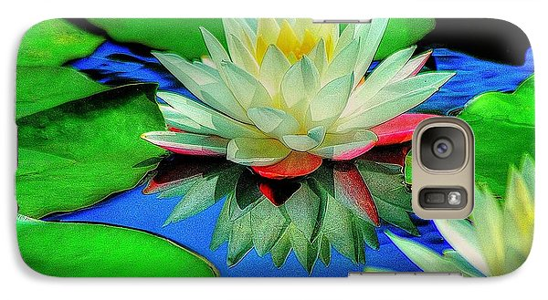 Galaxy Case featuring the photograph Water Lilly by Ed Roberts