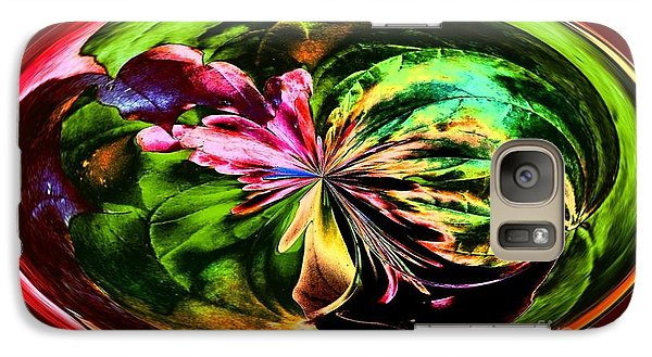 Galaxy Case featuring the digital art Water Lily Abstract Art by Annie Zeno