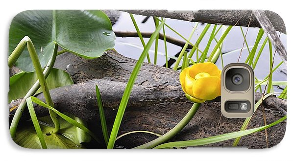 Galaxy Case featuring the photograph Water Lily by Cathy Mahnke