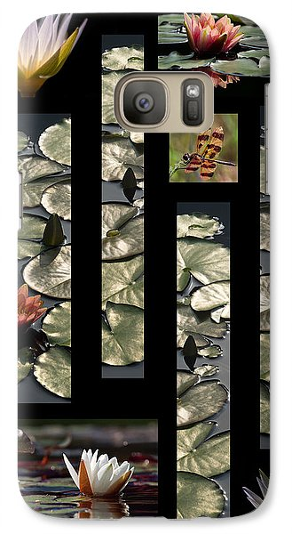 Water Lily Collage Galaxy S7 Case