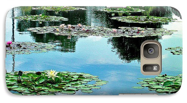 Galaxy Case featuring the photograph Water Lily Garden by Zafer Gurel