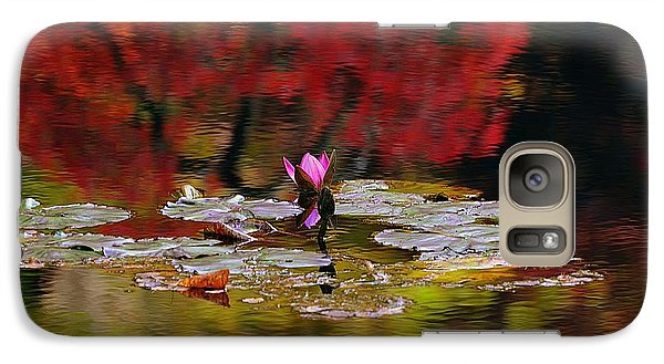 Galaxy Case featuring the photograph Water Lily Reflection by Lisa L Silva