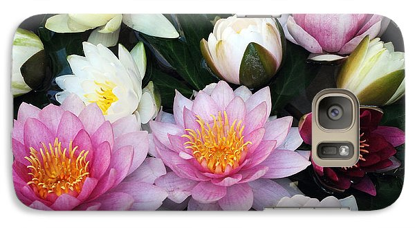 Galaxy Case featuring the photograph Water Lily Series -2  by Haleh Mahbod
