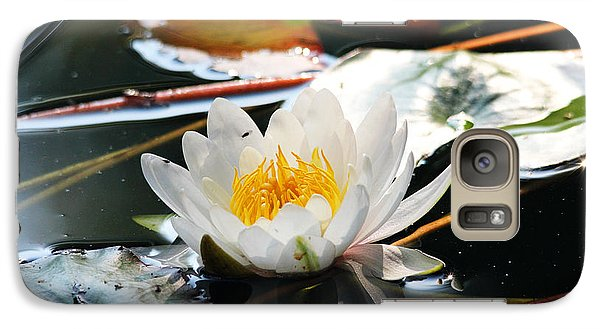 Galaxy Case featuring the photograph Water Lily by Trina  Ansel
