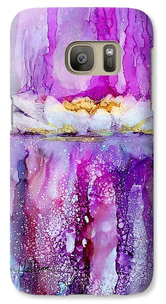 Galaxy Case featuring the painting Water Lily Wonder by Karen Mattson
