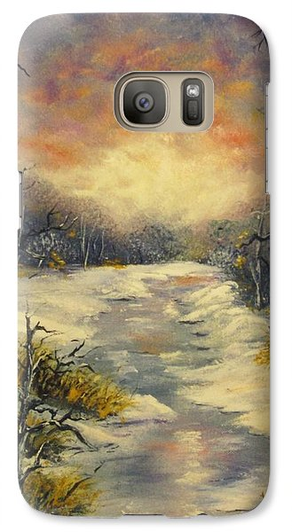 Galaxy Case featuring the painting Water Music  by Megan Walsh