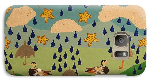 Galaxy Case featuring the painting Water Off A Duck's Umbrella by Erika Chamberlin