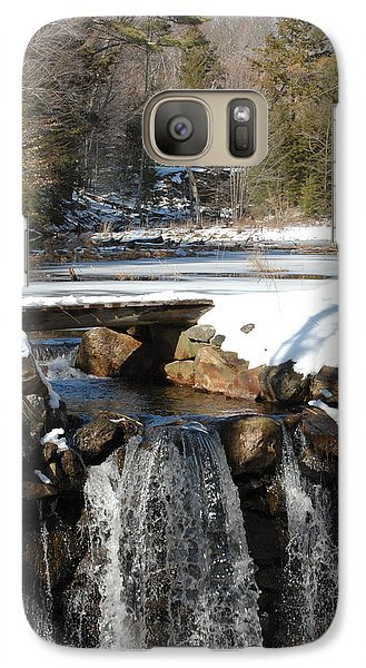 Galaxy Case featuring the photograph Water Over The Dam by Mim White
