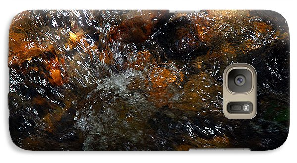 Galaxy Case featuring the photograph Water Rocks by Allen Carroll