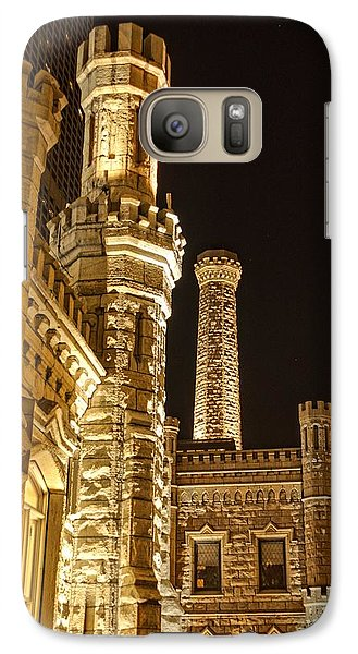 Galaxy Case featuring the photograph Water Tower At Night by Daniel Sheldon