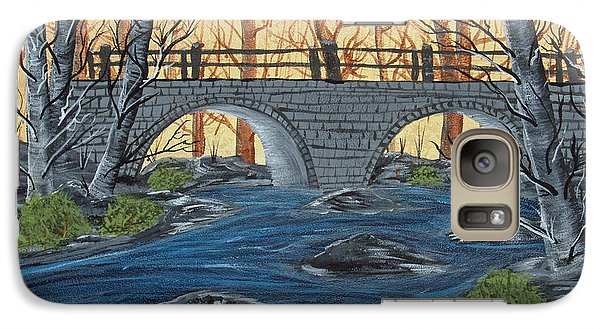 Galaxy Case featuring the painting Water Under The Bridge by Brenda Brown