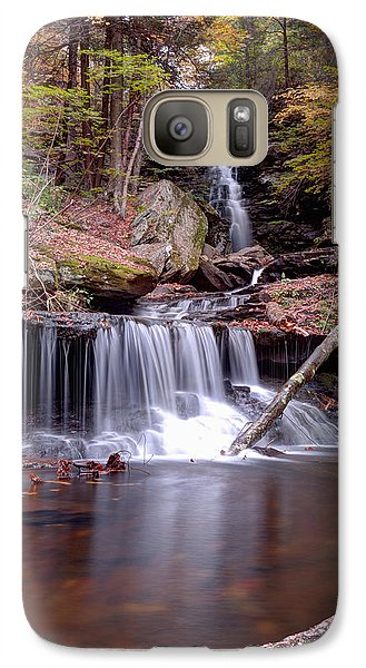 Galaxy Case featuring the photograph Water Under The Ozone Falls Bridge by Gene Walls