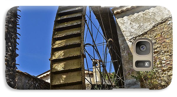 Galaxy Case featuring the photograph Water Wheel At Moulin A Huile Michel by Allen Sheffield