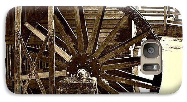 Galaxy Case featuring the photograph Water Wheel At The Grist Mill by Tara Potts