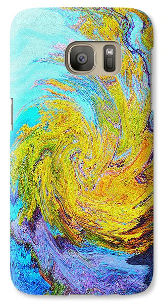 Galaxy Case featuring the photograph Water Whirl by Ann Johndro-Collins