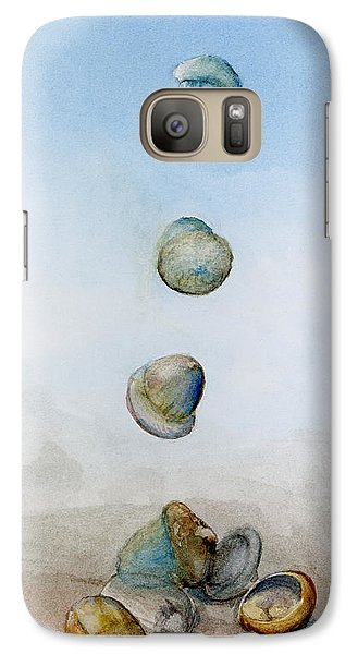 Galaxy Case featuring the painting Watercolor Acorn Falls by Lenora  De Lude