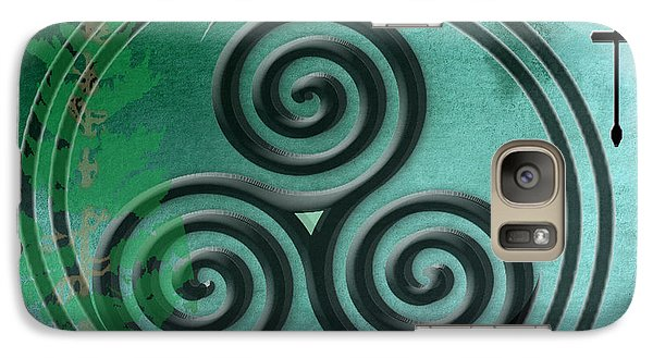Galaxy Case featuring the digital art Watercolor Ailim Symbol by Kandy Hurley