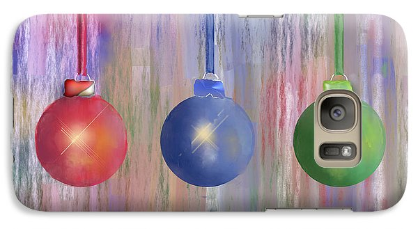 Galaxy Case featuring the digital art Watercolor Christmas Bulbs by Arline Wagner