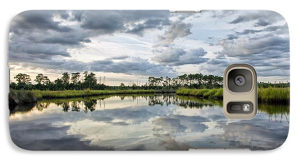 Galaxy Case featuring the photograph Watercolor Marsh And Sky by Alan Raasch