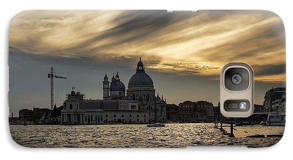 Galaxy Case featuring the photograph Watercolor Sky Over Venice Italy by Georgia Mizuleva